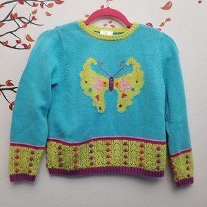 HANNA ANDERSSON Butterfly Knit Sweater 130